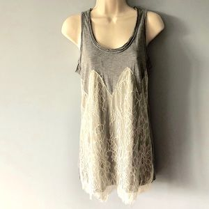Anthropologie Pins & Needles Gray Tank Top Size XS